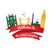 Vector logo landmarks of United Kingdom