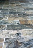 Close up Artistic Vintage Stone Style of Architectural Flooring Design