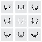 Vector laurel wreaths icon set
