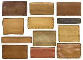 image of apparel  - Leather jeans labels - JPG