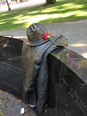 picture of firefighter  - A sculpture dedicated to firefighters dead in the worst firefighting tragedy in Boston - JPG