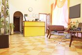 image of reception-area  - Reception area at the beauty salon - JPG