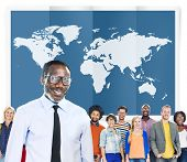 pic of globalization  - World Global Business Cartography Globalization International Concept - JPG