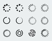 picture of indications  - Loading indicators vector icon set on grey background - JPG