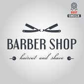 stock photo of barbershop  - Logo elements badge - JPG