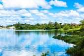 image of brasilia  - Paranoa Lake in Brasilia - JPG
