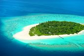 image of kuramathi  - Beautiful tropical island from above - JPG