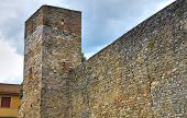 stock photo of fortified wall  - Perspective of the Fortified Wall of Montefalco - JPG