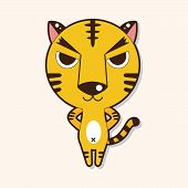 picture of cute tiger  - Animal Tiger Cartoon Theme Elements - JPG