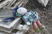 stock photo of rag-doll  - Forgotten children toy - JPG