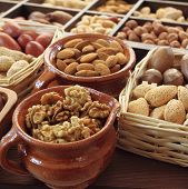stock photo of hazelnut  - Varieties of nuts - JPG