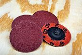 foto of abrasion  - Abrasive sanding discs for grinding and cleaning of wood paint metal and other material - JPG