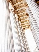 foto of stability  - columns at the parliament in vienna - JPG