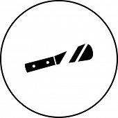 picture of spreader  - spreading knife symbol - JPG