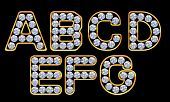 A-g Letters Incrusted With Diamonds