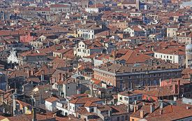 foto of overpopulation  - lots of houses with red - JPG