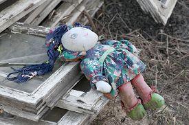 image of rag-doll  - Forgotten children toy - JPG