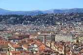 stock photo of nice house  - Panoramic view of Nice with colorful houses Nice  - JPG