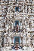 pic of hindu  - Details of Hindus god in a temple Pushkar Rajasthan India - JPG
