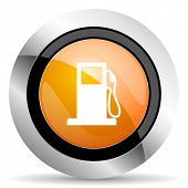 pic of petrol  - petrol orange icon gas station sign  - JPG