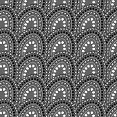 picture of grayscale  - Tile with dots of grayscale colors - JPG