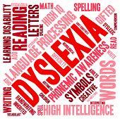 foto of dyslexia  - Dyslexia word cloud on a white background - JPG