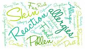 picture of allergies  - Allergies word cloud on a white background - JPG