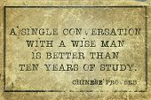 foto of single man  - A single conversation with a wise man is better  - JPG