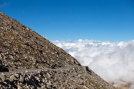 image of himachal  - Himalayan landscape in Himalayas along Manali - JPG