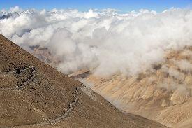 foto of himachal  - Himalayan landscape in Himalayas along Manali - JPG