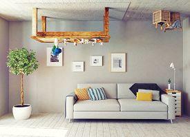 picture of errat  - strange living room interior - JPG
