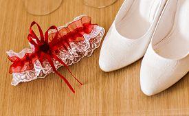 image of garter-belt  - Luxury wedding shoes - JPG