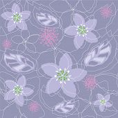 Seamless Light Purple Floral Pattern