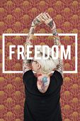 Energized Positivity Freedom Liberation Optimistic poster