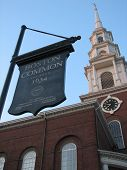 Boston Common - Park Street Church