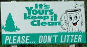 Don'T Litter Sign - Keep It Clean