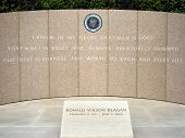 stock photo of ronald reagan  - The Ronald Reagan burial site in California - JPG