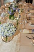 Detail Of Formal Dinner Table Setup