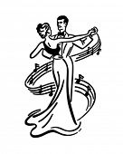 picture of clip-art staff  - Couple Dancing 2  - JPG