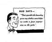 Bud Says - Retro Spokesman - Clip Art
