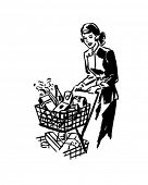 Thrifty Shopper - Retro Clip Art