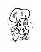 French Chef - Retro Clip Art