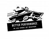 Speeding Driver - Retro Clip Art