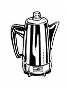 Coffee Percolator - Retro Clip Art
