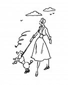 pic of poodle skirt  - Lady With Poodle  - JPG