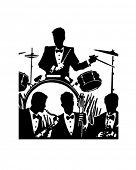 Jazz Band - Retro Clip Art