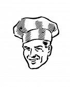 Smart Chef - Retro Clip Art