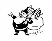 It's Santa! - Retro Clip Art