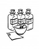 Medicine Bottles - Retro Clip Art