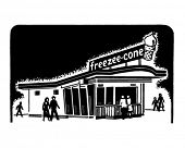 Ice Cream Shop - Retro Clip Art